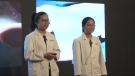 Here is how we create the artificial skin | Jenna Wong 黃安恩 & Clarissa Yung 容幸之 | TEDxYouth@HongKong